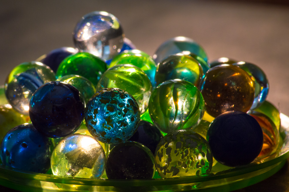 Clear Colored Marbles : Photos from the d page