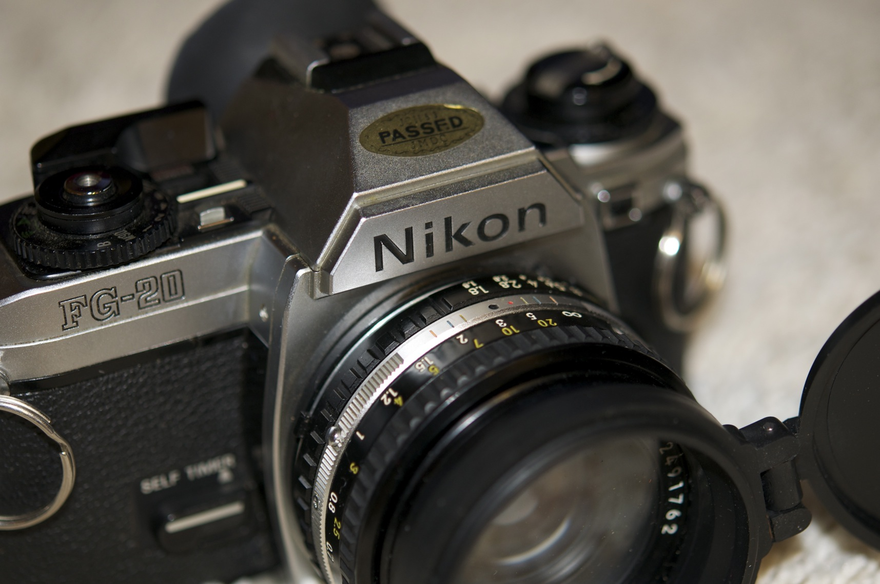 how to turn on nikon fg