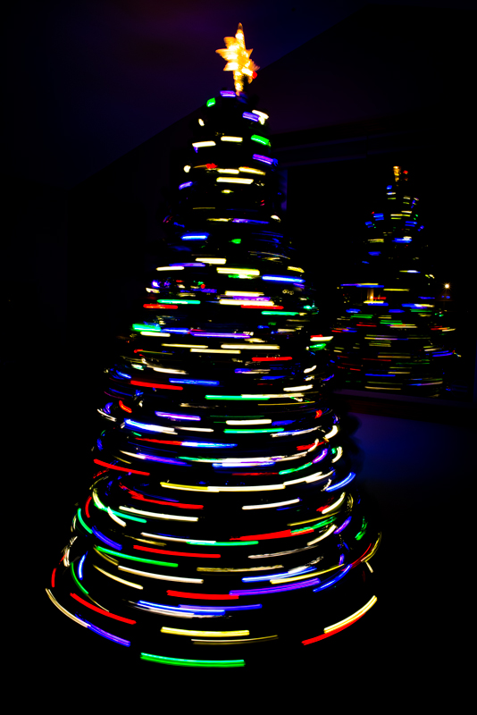 Long Exposure Christmas Tree