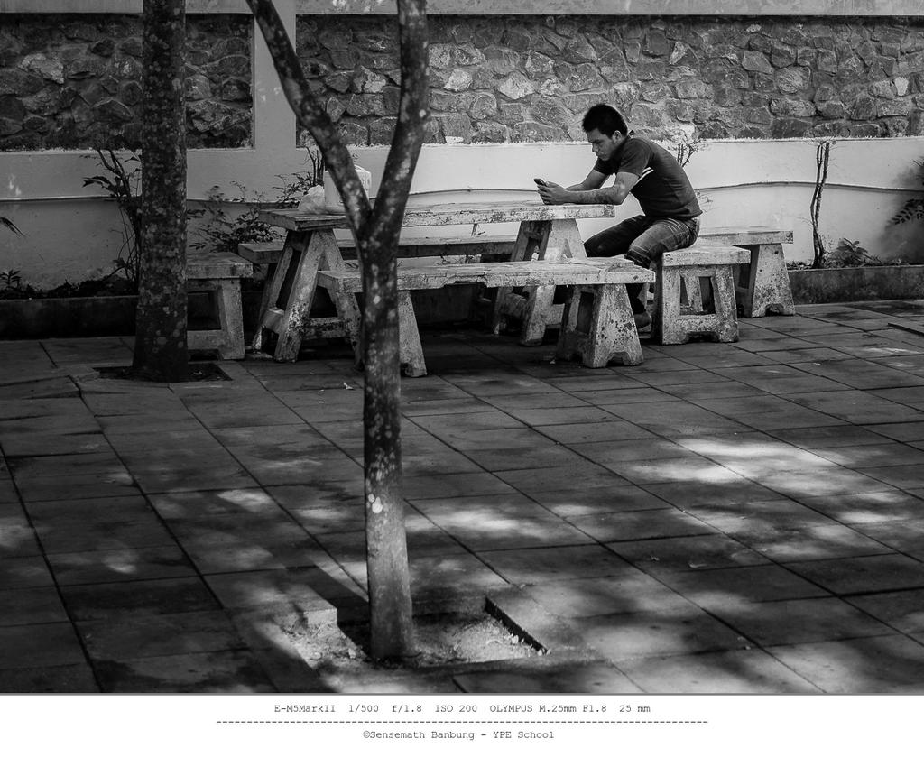 Non Nikon - Street Photography-sitting-shadow-bw-1.jpg