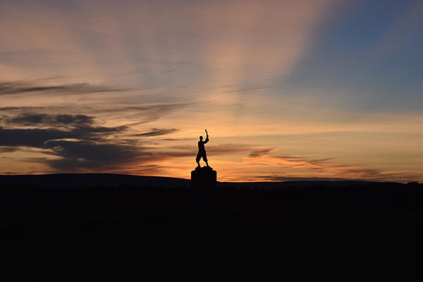 Gettysburg PA - Sunset by 72nd PA Infantry Monument-261sm.jpg