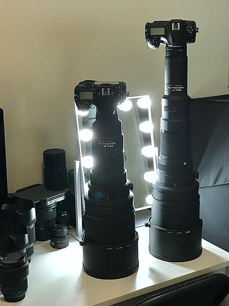 Nikon Nikkor 400mm f2.8 and 800mm f5.6 AIS ... a modern view ( w Nikon D800 and D850)-400and800mmstanding.jpg