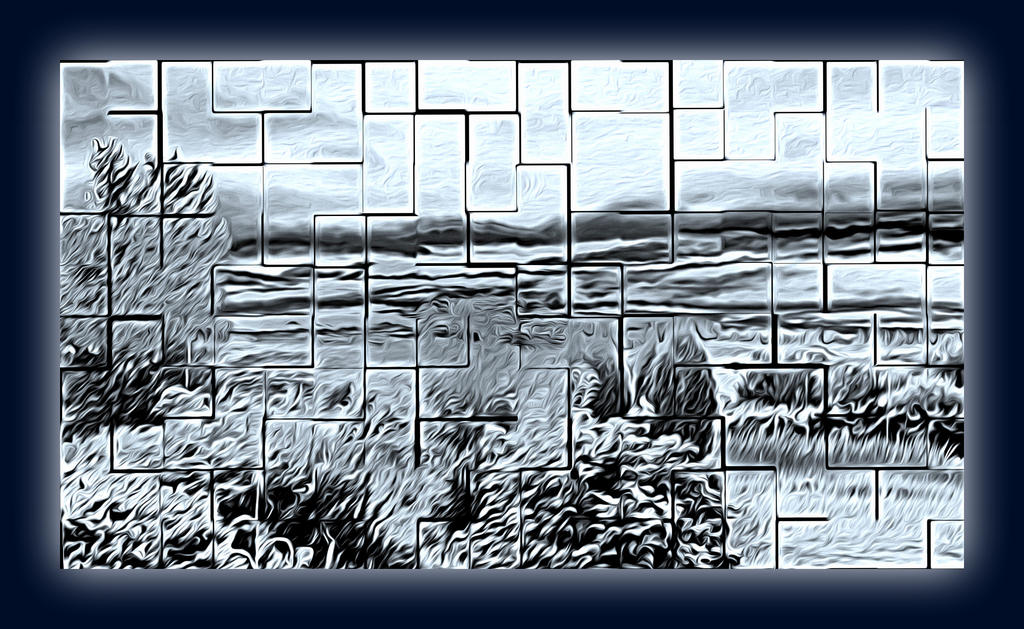 Weekly Challenge Sep. 18 - 24: Black and White Abstract-oil4.jpg