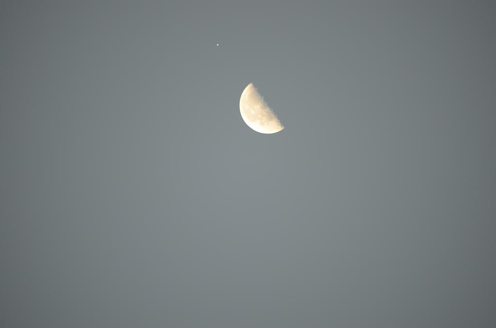Morning moon with Venus by Marilynne in Sunrise/Sunset