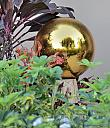 Glass Orb by Marilynne in Yard Art
