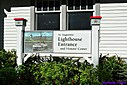 St. Augustine Lighthouse Sign by Marilynne in Landscape