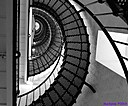St. Augustine Lighthouse Stairs by Marilynne in B/W