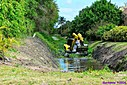 Cleaning a canal by Marilynne in Transportation