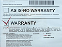 Interesting Used Car Warranty by Sandpatch in Member Albums