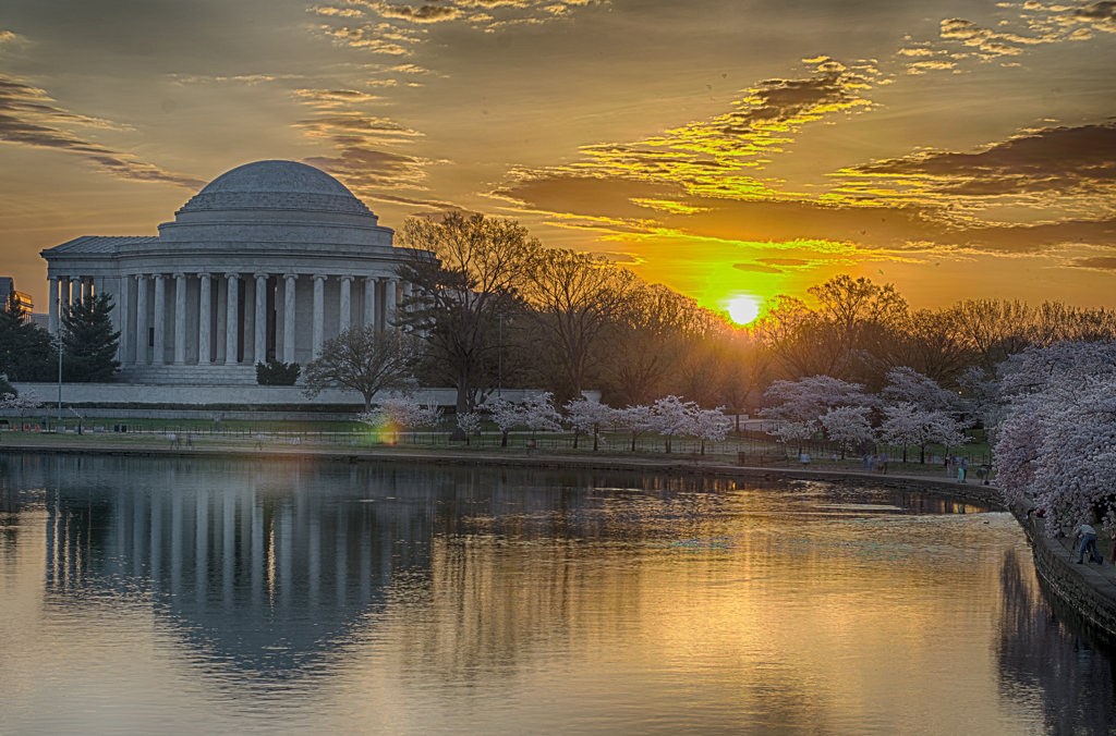 Jefferson Memorial at Sunrise (HDR) by cbg in Member Albums