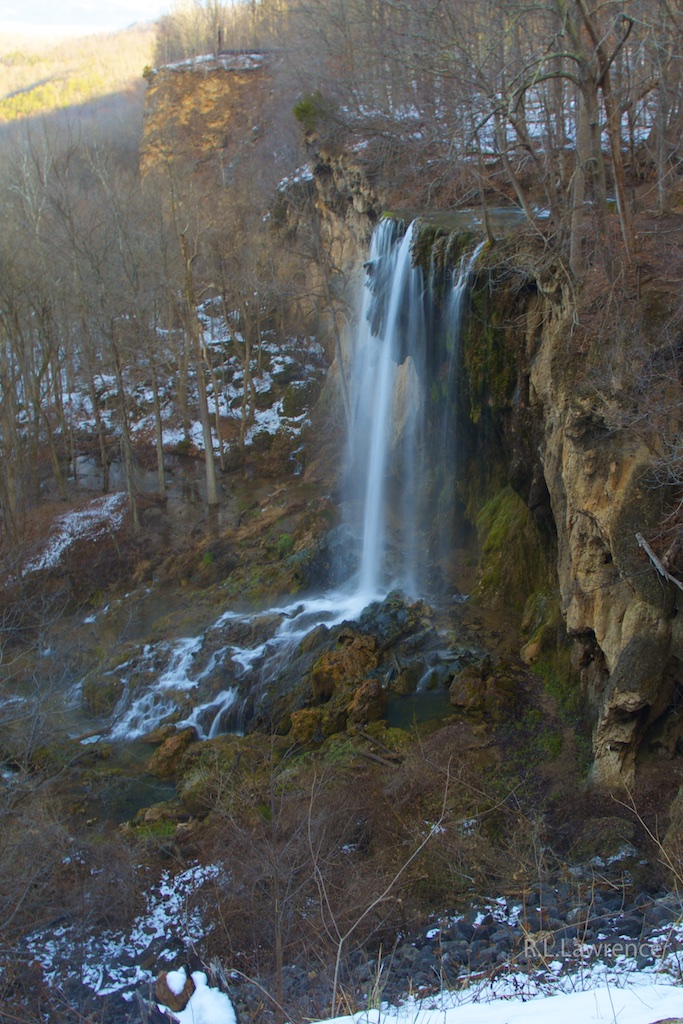 Falling Springs Falls, Winter by RON in Member Albums