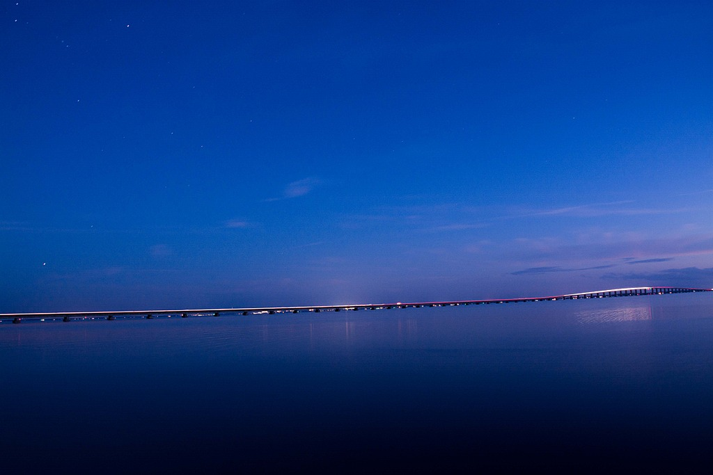 Mid-Bay Bridge From White Point by Whiskeyman in Member Albums