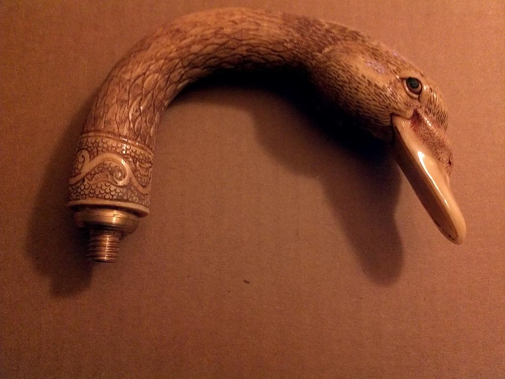 Carved ox bone duck head cane handle by Bill16 in Member Albums