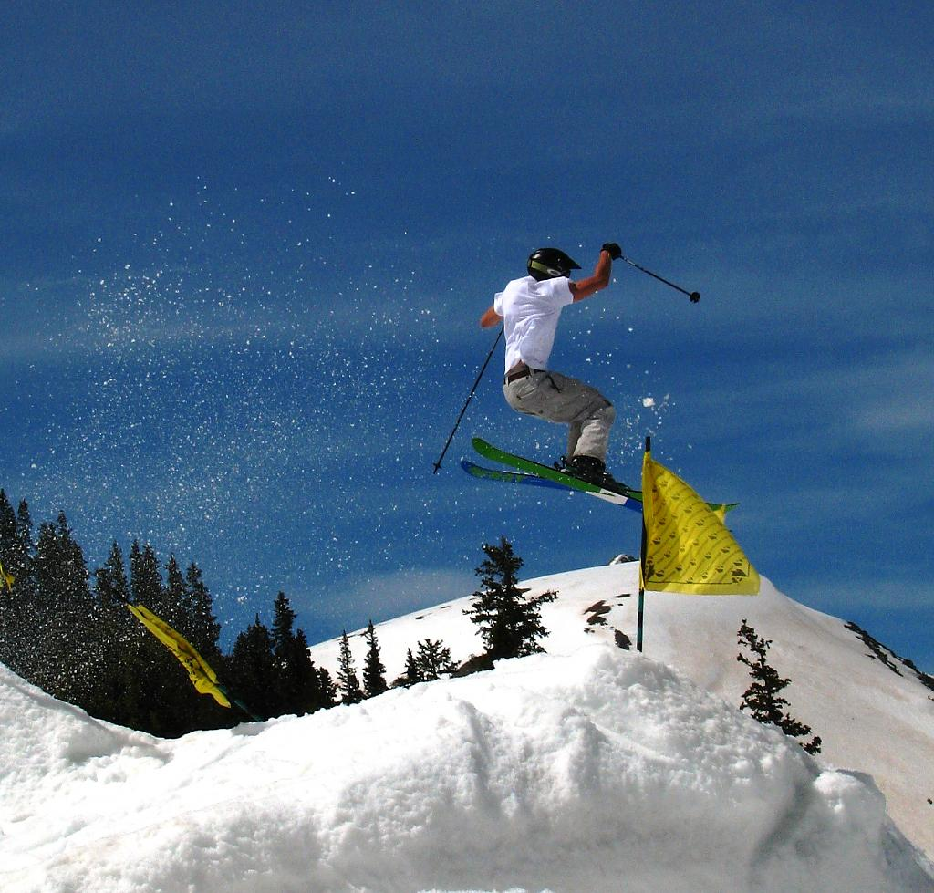 Springtime jumps at A-Basin