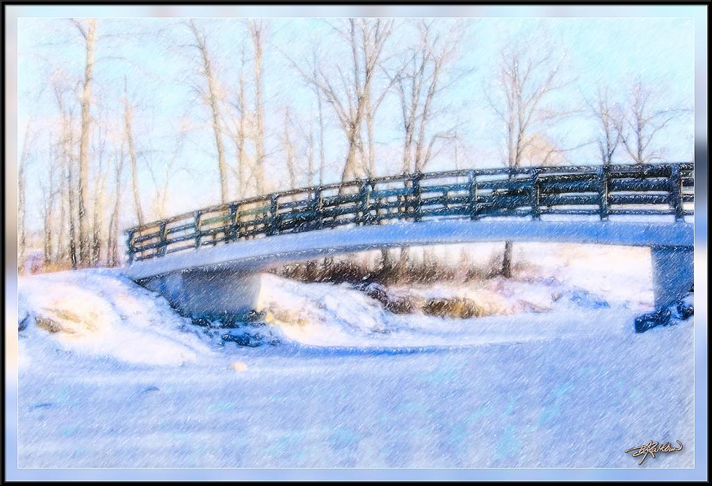 Fish Creek Bridge in Winter