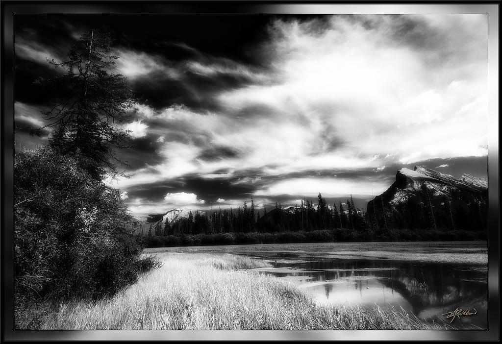 Mt. Rundle in Black and White by drathbun in Member Albums