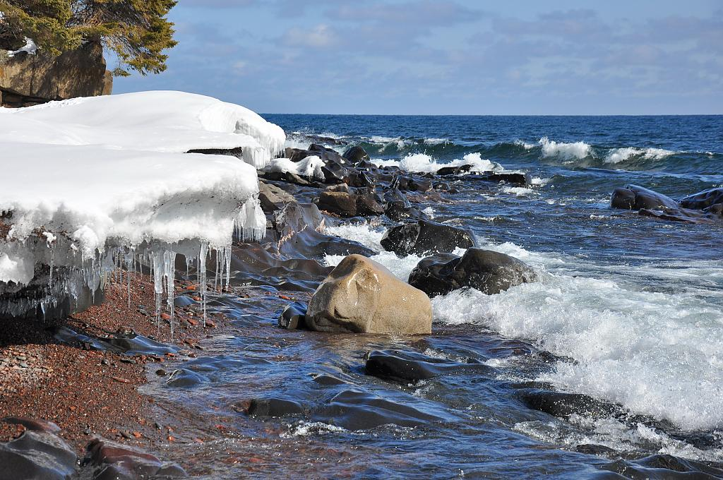 Late Winter North Shore Lake Superior by eyespyed in Member Albums