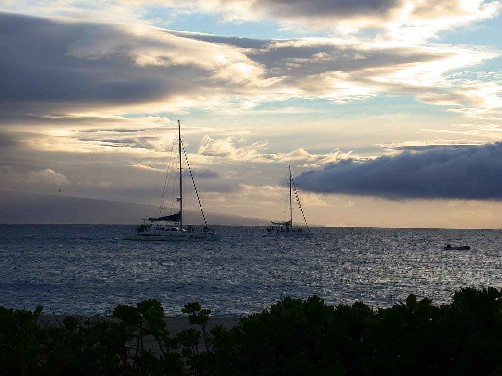 sunset sail Maui by calseal in Travel