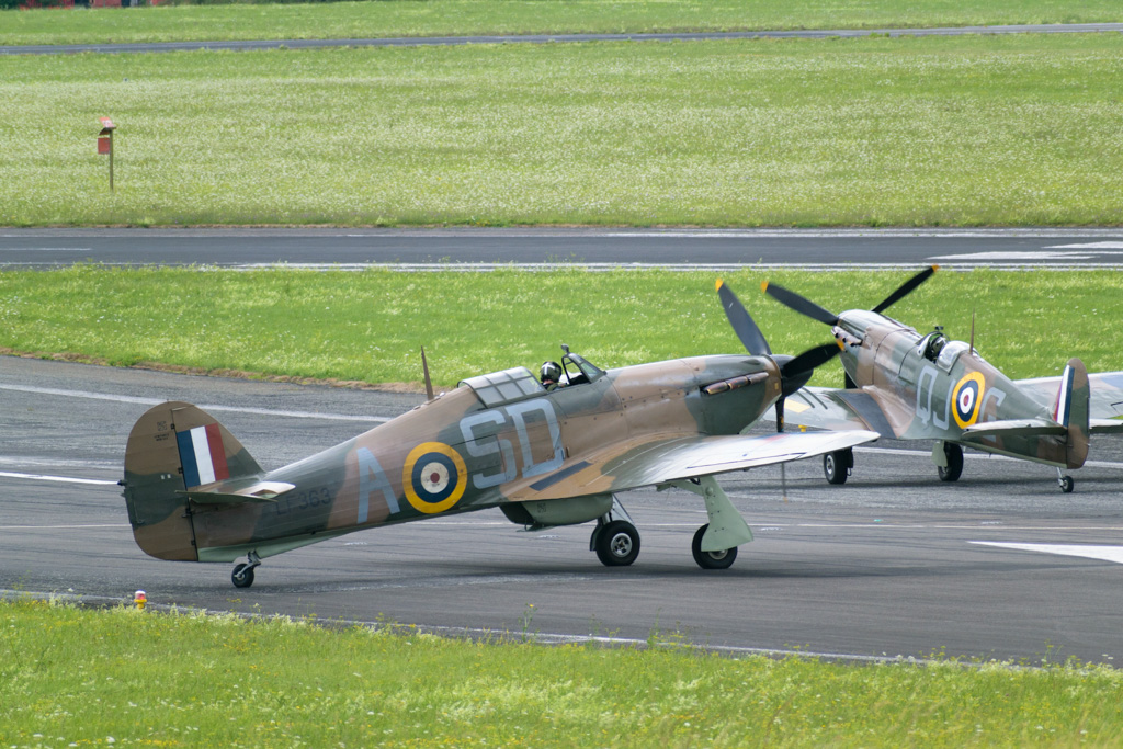 Spitfire + Hurricane Glos. Airport by Glevum Owl in Member Albums