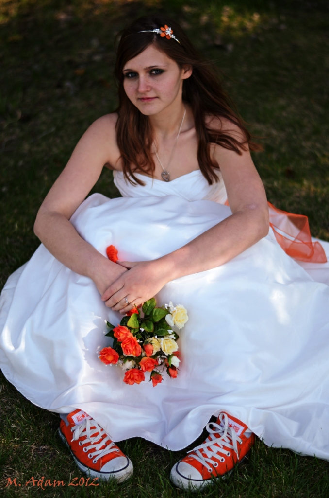 Converse are cool even in a  bridal shot by Mis Adam in Bridal