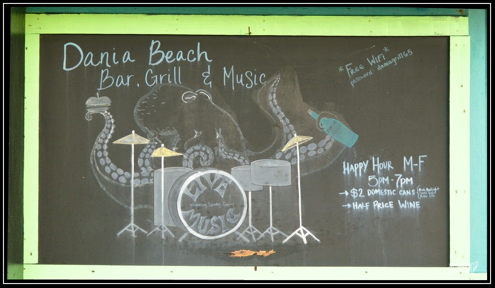Dania Beach Blackboard Art by Needa in Member Albums
