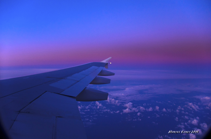 Daybreak over the Atlantic ocean by Marcel in Hungary and Vienna 2011