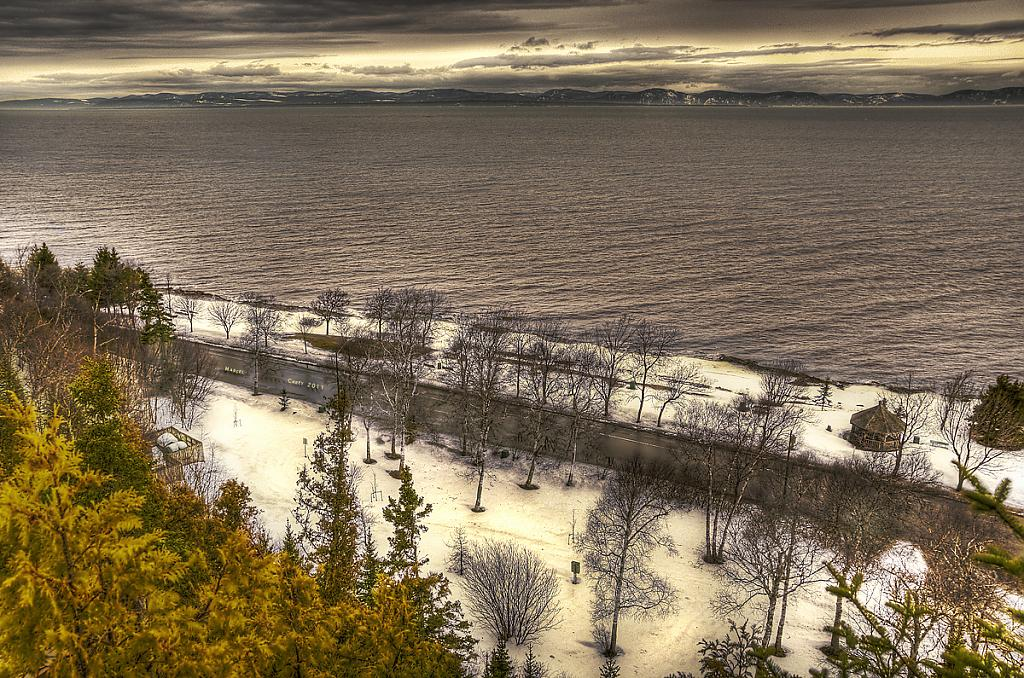 Wide angle view of the St-Laurence River hdr by Marcel in Member Albums