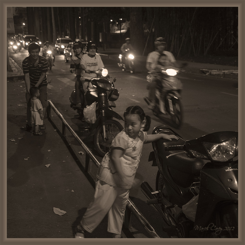 Saigon at night by Marcel in Vietnam 2012