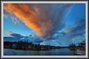 sunset clouds on the river by Marcel in Member Albums