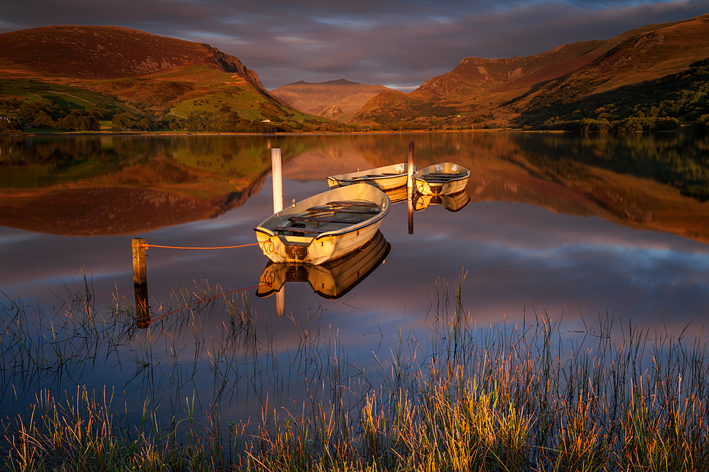Llyn Nantle Uhaf, autumn sunset.. by J-tom in Member Albums