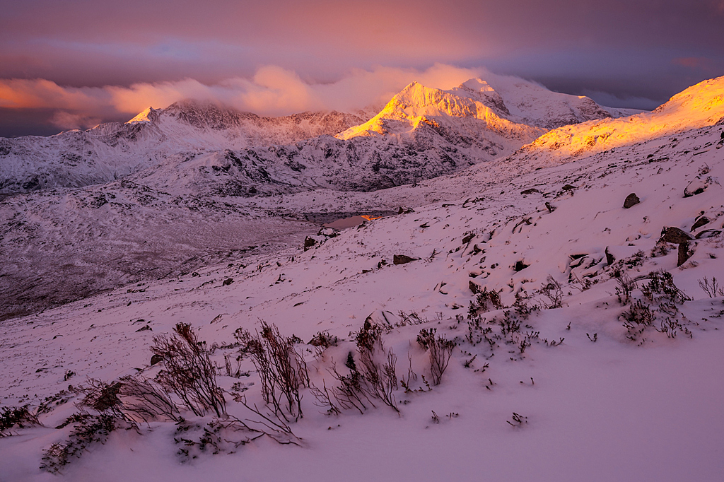Snowdon summit sunrise at Winter 2016 by J-tom in Member Albums