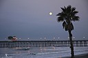 Moon Set over Oceanside Pier by Bikerbrent in Member Albums