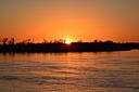 sunset over Ohio River by RyKR