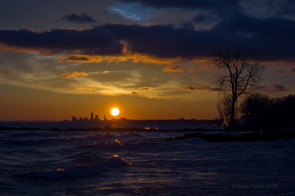 Sunrise over Cleveland by Robin W in Member Albums