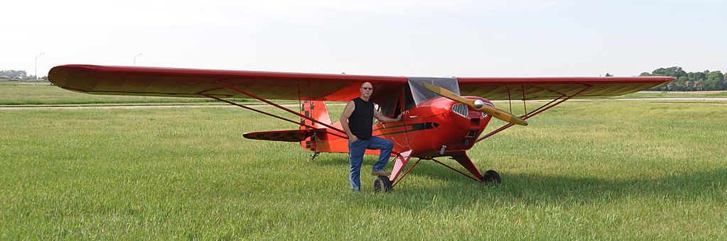 D90 - my buddy Calvin, with his Taylorcraft by Niffty850 in Member Albums