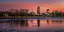 Downtown Des Moines from Grays Lake by Scot H in Member Albums