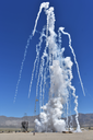 """Firing our 8""""  P-7400 rocket motor by Rocket Rick in Rocket tests and launches"""