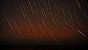 Star Trails During Bushfire