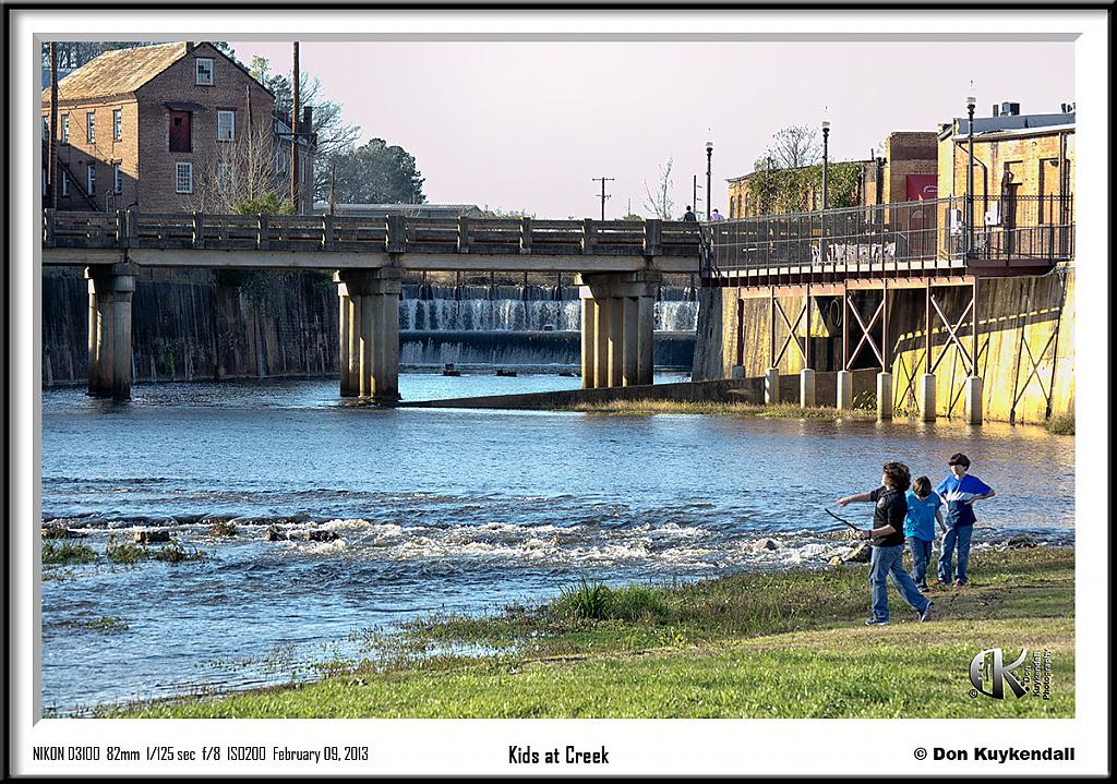 Kids at creek by Don Kuykendall in Member Albums