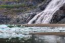 Mendenhall Glacier Float Ice at Nugget Creek Falls by Joseph Bautsch in Member Albums