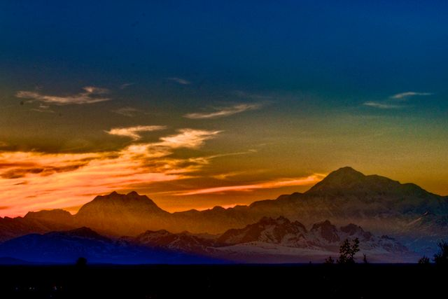 Mt. McKinley Last Light of the Day by Joseph Bautsch in Member Albums