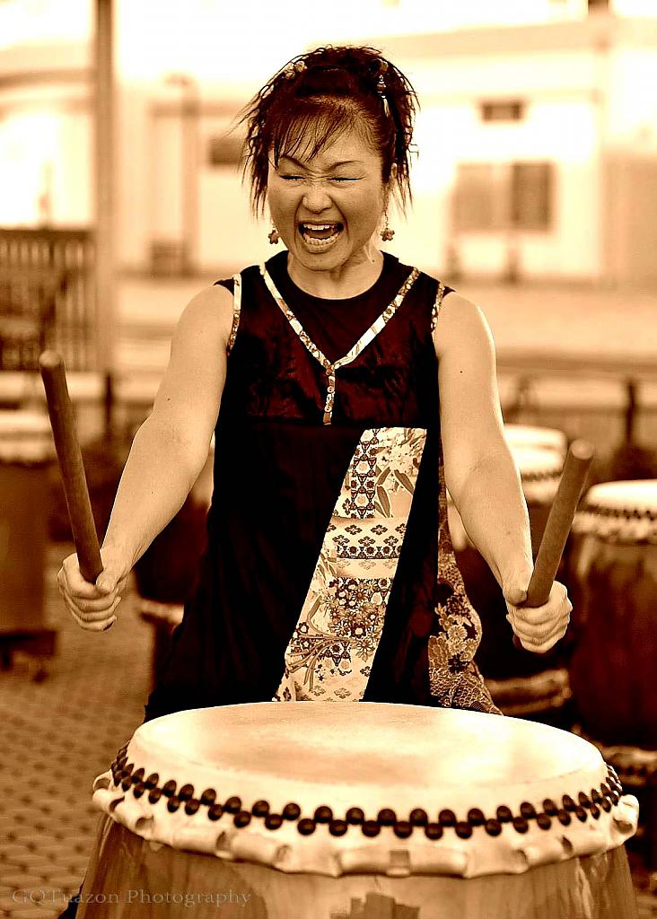 Japanese Taiko Drummer by gqtuazon in Member Albums