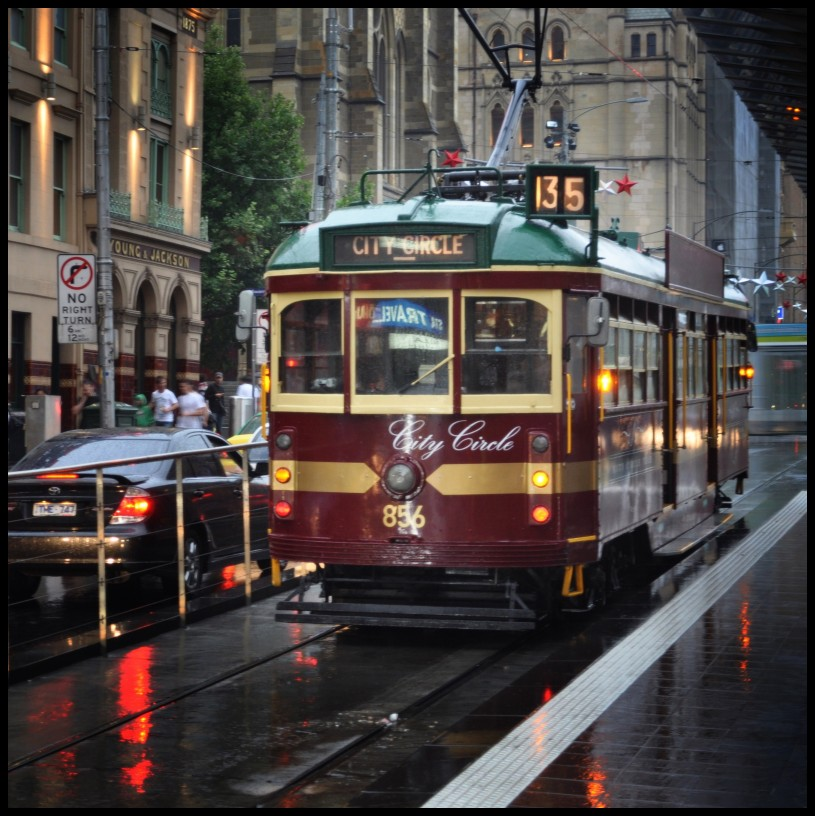 red gold tram (2009) by dt2003au in Member Albums
