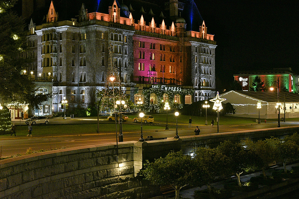 Empress Hotel (Victoria) at Night by TieuNgao in Member Albums